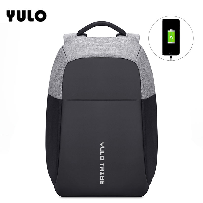 YULO Men's Laptop Backpack Patchwork Backpack Anti-theft Multifunction USB Charging Men's Waterproof Travel Bag yulo men s laptop backpack patchwork backpack anti theft multifunction usb charging men s waterproof travel bag