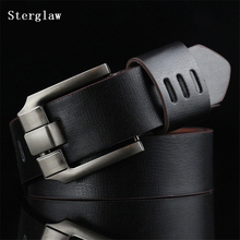 2018 high quality leather belts for men alloy buckle vintage Handcrafted mens luxury belt men ceinture homme free shipping U123