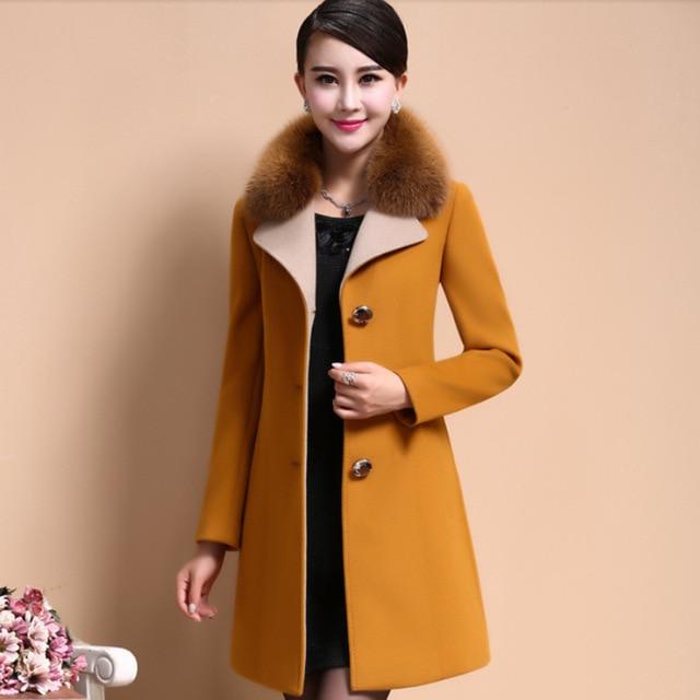 Online Shop Wool Ladies Coat Long Wool Coat Women's Cashmere Coats ...