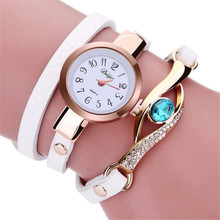 Brand Ladies Watches 2017 Fashion Women Diamond Bracelet Watches Wrap Around Leatheroid Quartz Wrist Watch Montre Femme