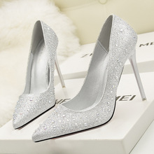 Super High Heels Wedding Crystal Shoes