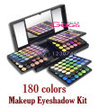 Beleza 180 cores Eyeshadow Makeup Palette Neutral Eye Shadow Caso Kit de Maquiagem Make Up Kit Cosméticos Set com Espelho