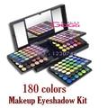 Beleza 180 cores Eyeshadow Makeup Palette Neutral Eye Shadow Caso Kit de Maquiagem Make Up Kit Cosméticos Set com Espelho