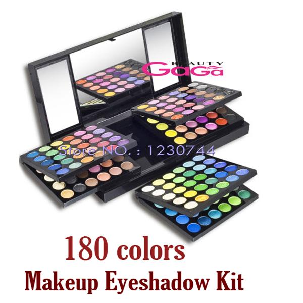Belleza 180 colores de Maquillaje Paleta de Sombra de ojos Neutral Sombra de Ojos Cosméticos Caso Kit Maquiagem Maquillaje Kit Set con Espejo