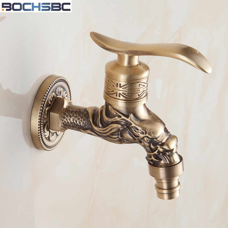 ᐃBOCHSBC Europe Style Carved Washing Machine Faucets Antique Single ...