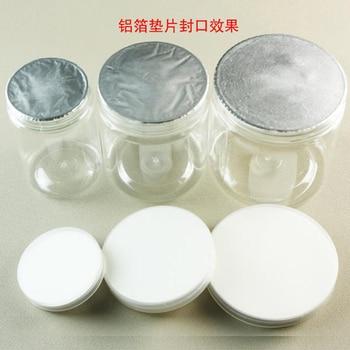 1000pcs 41mm/42mm/43mm/44mm/45mm Aluminum Foil Seal for Plastic Bottle, Induction Alumunim Foil Pads for PET/PE/PP/HDPE/GAKSET