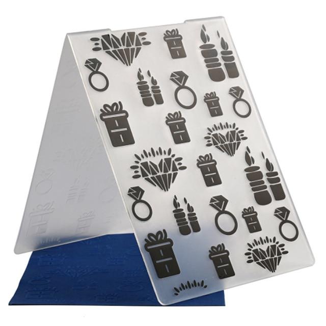 Decoration Supplies Embossing Folders Paper Craft Album Card Tool Birthday Making DIY Scrapbooking Plastic Template