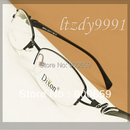 Preto/Vermelho Estreito Oval Metal Metade rim Óptica da Prescrição QUADROS de ÓCULOS Mulheres Óculos RX Espetáculo D9703 Eyewear