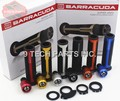 Universal 22mm Street & Racing Moto Grips with end BARRACUDA CNC 7/8'' Motorcycle Handle bar CAPS / Handlebar Grips Kit with box