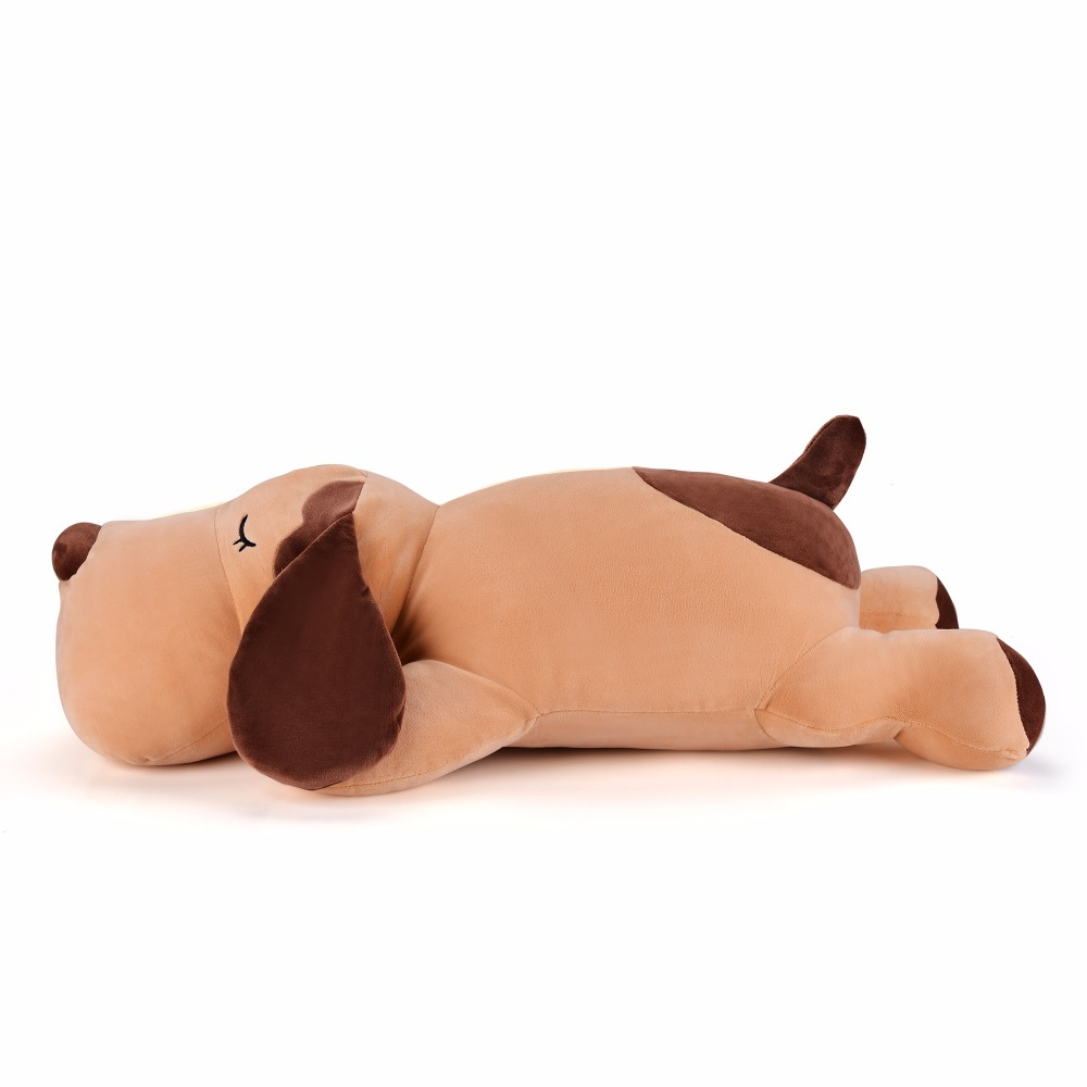 Plush Cartoon Doggy Toys Soft Cute Pillow Super Soft Stuffed Animal Brown Doggy Dolls Best Gifts for Kids Friend Baby 55*20CM plush toys chi chi s cat stuffed and soft animal dolls for baby girl boy children 20cm 30cm 40cm