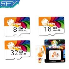 2016 Новый SFY Магазин BIYETIMI Высокая Скорость Реальная Емкость Красочный жизнь 8 ГБ 16 ГБ 32 ГБ Карты Памяти Карты Памяти Micro SD карты
