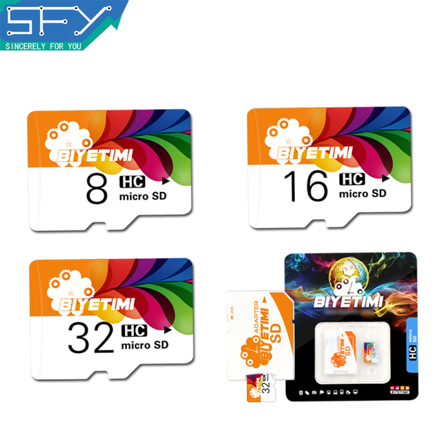 2016  New SFY Store BIYETIMI High Speed Real Capacity Colorful Life 8GB 16GB 32GB  Memory Card TF Card Micro SD Card