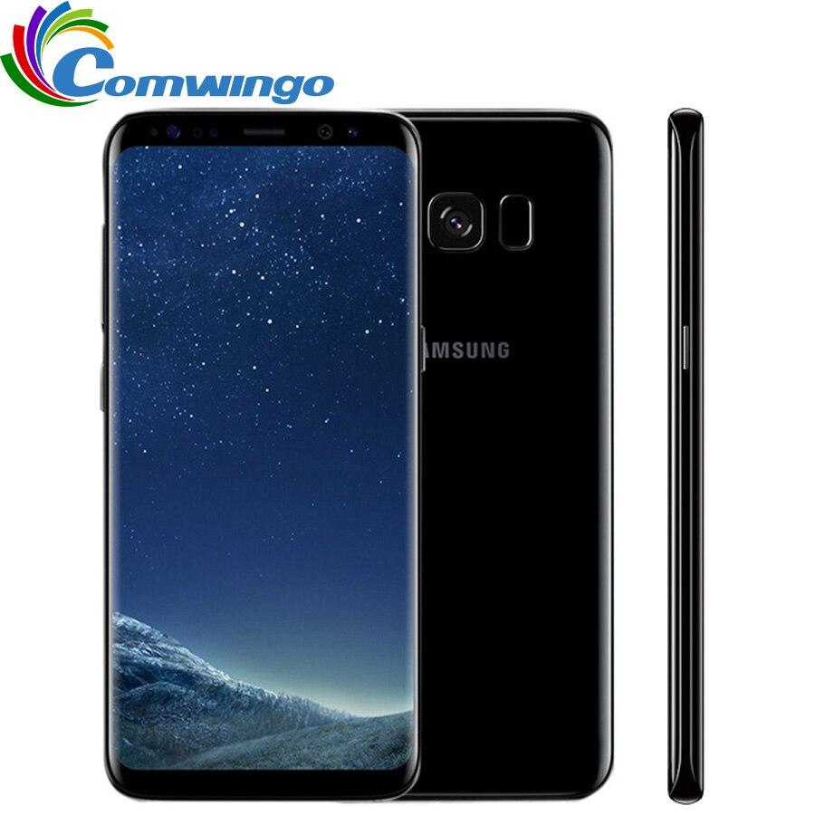 Оригинальный разблокирована samsung Galaxy S8 4G B Оперативная память 6 4G B Встроенная память Восьмиядерный 4G LTE Мобильного Телефона 5,8 дюйма 12MP смарт...