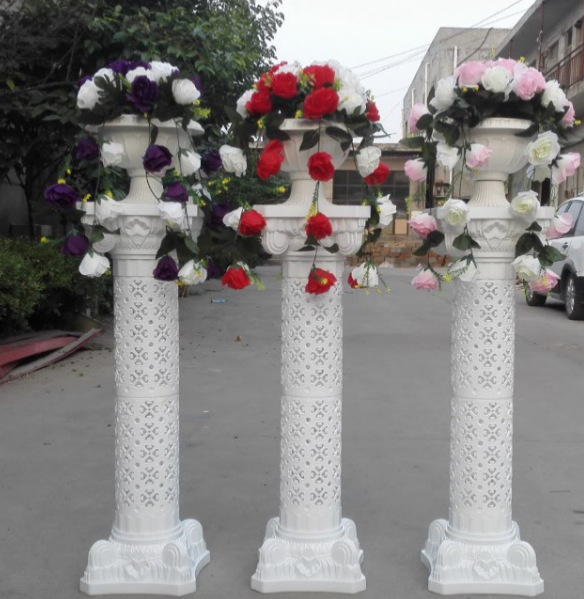 Wedding Flower Pillars: New 4pcs Wedding Plastic Columns Roman Column Decorations