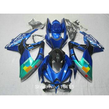 fairing kit for SUZUKI K8 K9 GSXR 600 700 2008 2009 2010 GSXR600 GSXR750 08 09 10 blue green JOMO  fairings 62-18