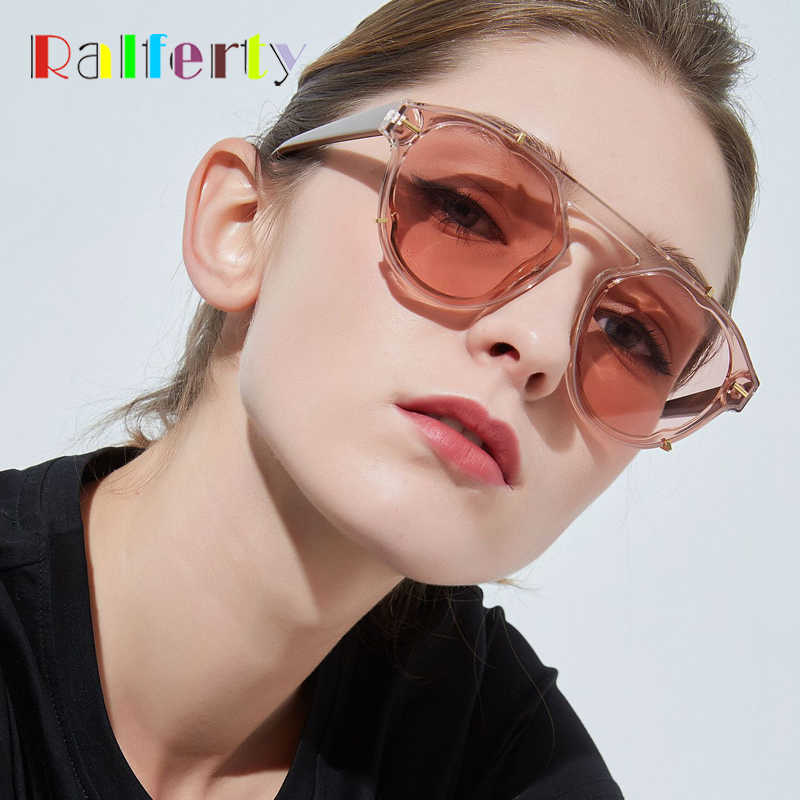 72aa30a339a4 Ralferty 2019 New Sunglasses Women Brand Designer Sun Glasses Transparent  Cloudy Glasses Vintage UV400 Eyewear Oculos