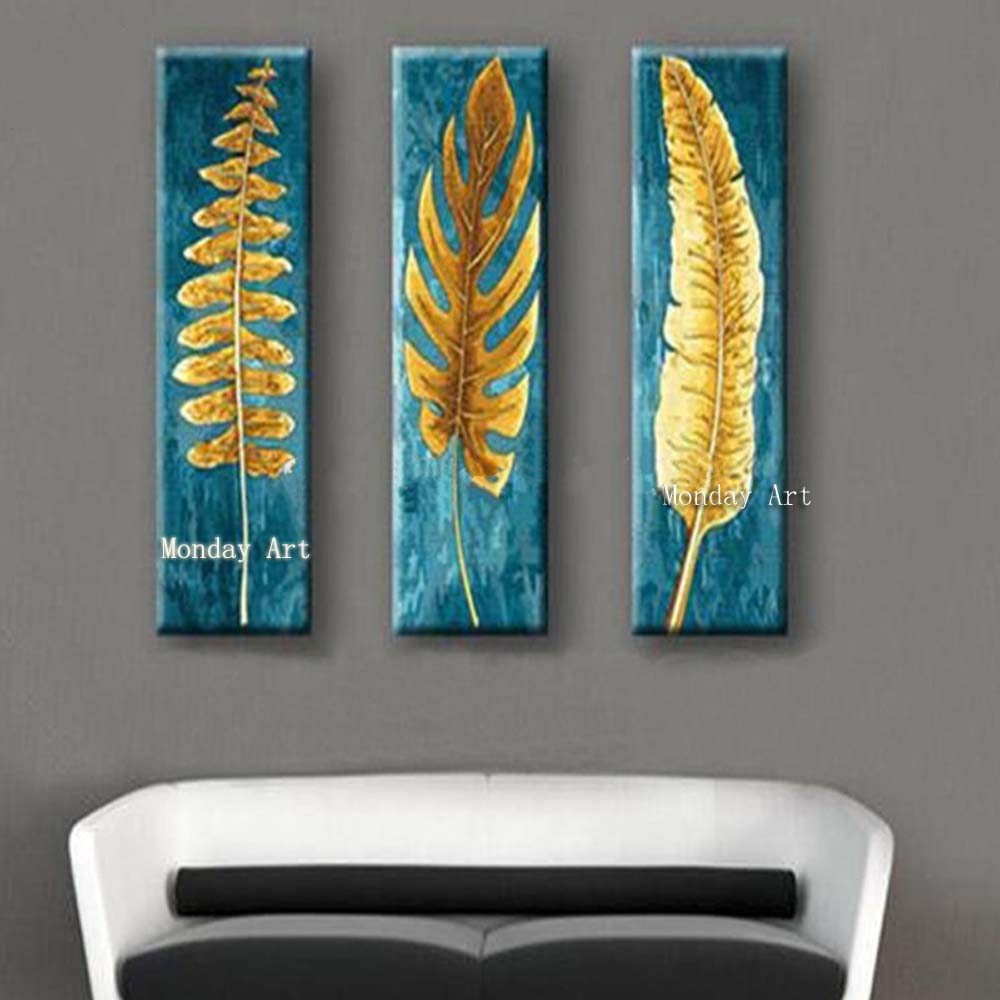 3-Panel-Beautiful-Canvas-Painting-Knife-Gold-Leafs-Pictures-Hand-Painted-Abstract-Blue-Oil-Paintings-Modern (1)