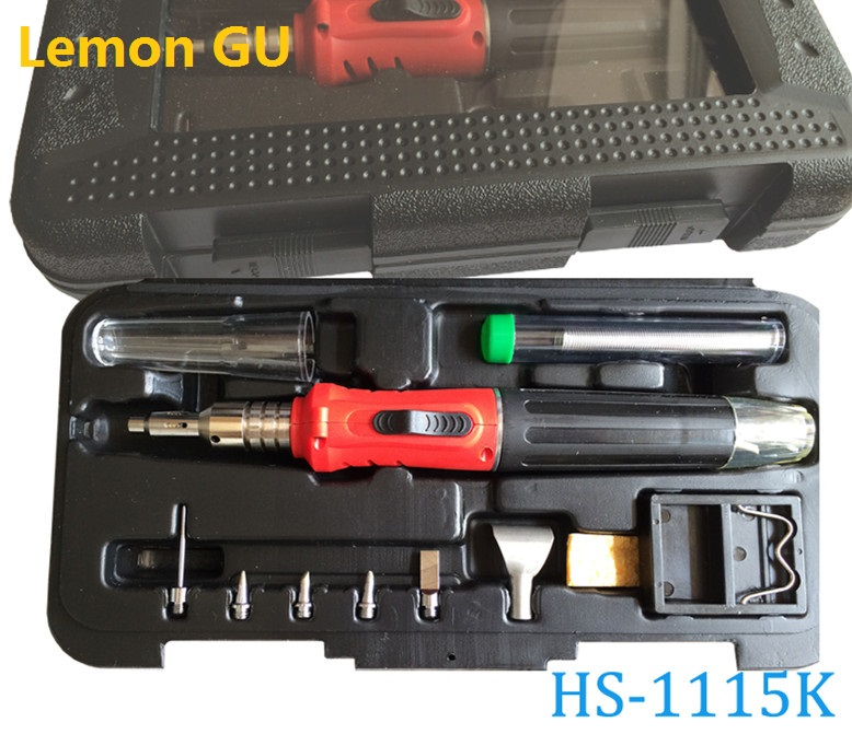 10-in-1 HS-1115K Self-Ignition Gas Soldering Iron Cordless Welding Torch Kit Tool Top Quality Ignition Butane Gas Soldering Iron niugul 1200w smoke machine fog machine for stage show party wedding dj equipments 1200w fogger maker with free