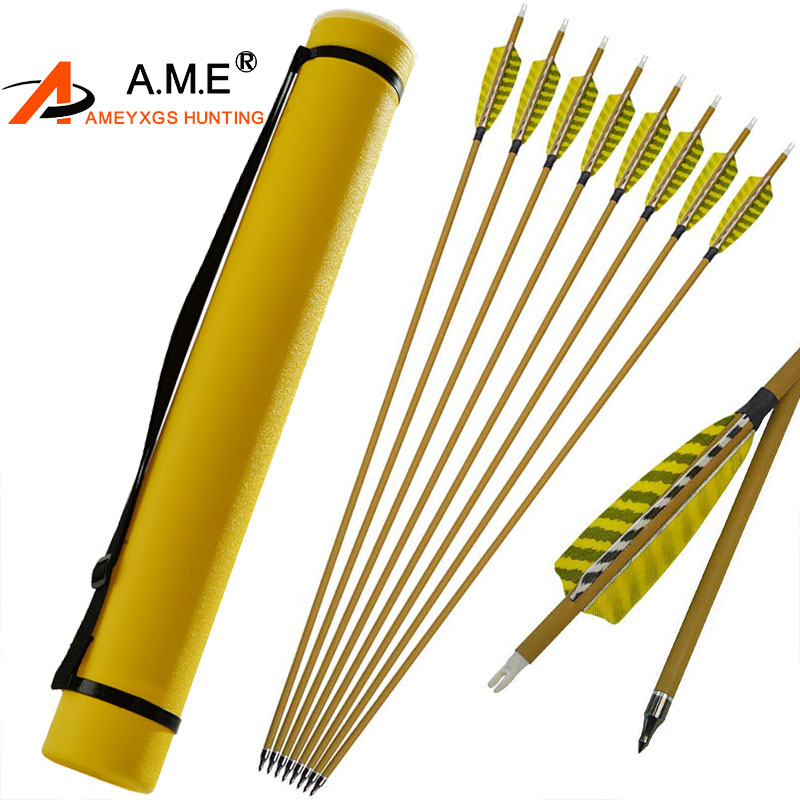 12Pcs Archery 30 Spine 450 ID6 2mm Mix Carbon Arrows 4 Feather Replaceable Arrow Point For