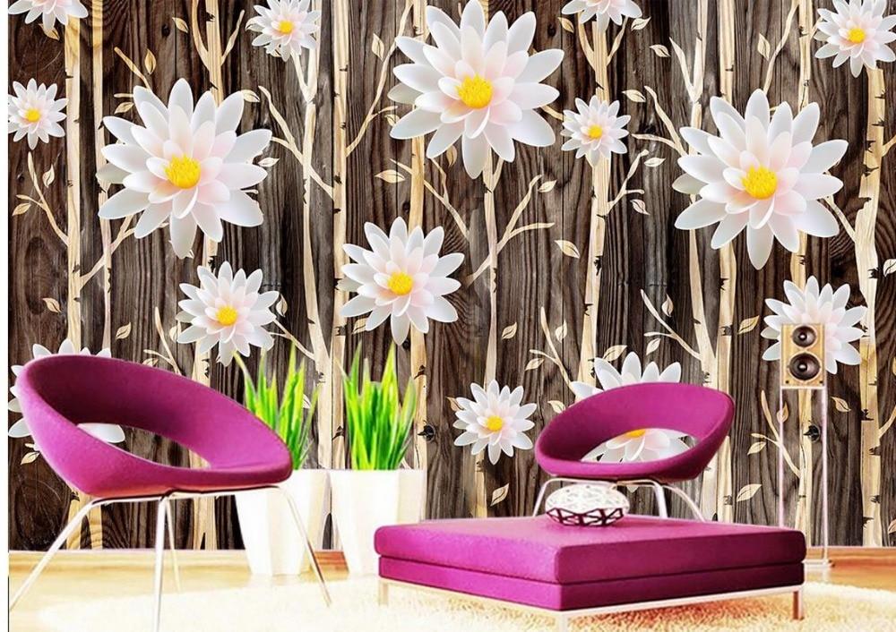 Carta Da Parati Fiori Di Loto : Murales carta da parati personalizzata fiore di loto soggiorno
