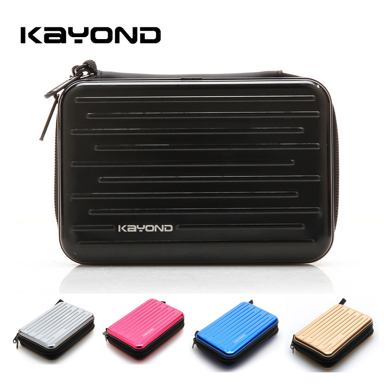 Premium Multi-Functional Carry Case Aluminum Alloy Earphone Hard Disk Box Portable Earphone Bag Protector Storage Box Organizer image