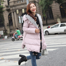 2016 Winter Women Coat Parka Casual Outwear Hooded Coat Woman Clothes female Winter for Women