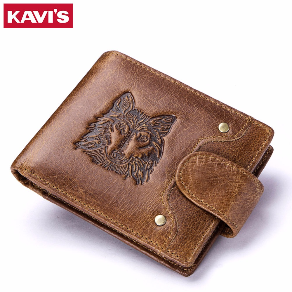 KAVIS Crazy Horse Genuine Cowhide Leather Men Wallet Male Cuzdan walet Coin Purse Men Purse Luxury Brand Small and Perse Mini kavis brand crazy horse genuine leather wallet men wallets coin purse with card holder mini male with bag portomonee small walet
