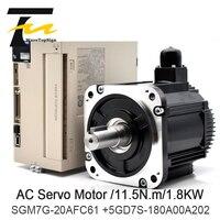 Yaskawa Servo Drive SGM7G 20AFC61 +SGD7S 180A00B202 Motor Speed 1500RPM Torque 11.5N.m Voltage AC200V