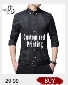 4e227f97 Lanmaocat Custom Cotton Casual Shirts For Men Customized T Shirt Print Logo  Mens Casual Business Slim Fit Shirts Free Shipping