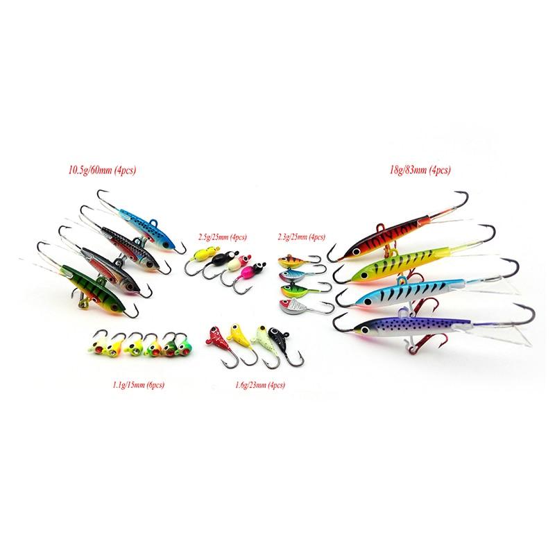Vissen Ice Fishing Lure 26 Stück Ice Jig Hooks für Zander Winter - Angeln - Foto 6