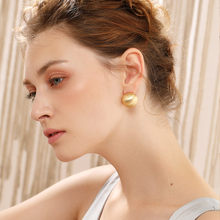 Viennois Fashion Jewelry Gold Color French Clip Stud Earrings For Women Round Gold Earrings(China)