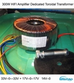 Toroidal Transformador de 300 W HIFI Amplificador Dedicado Fio de Cobre Puro Duplo 33 V e Dual 17 V 0-14 V de Áudio para o seu DIY