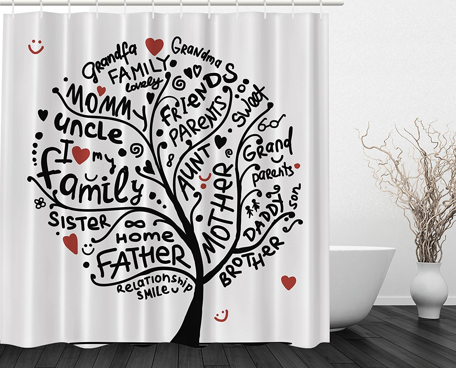 Better Curtains Grandma Gifts Family Tree Love Shower Curtain For Bathroom In From Home Garden On Aliexpress