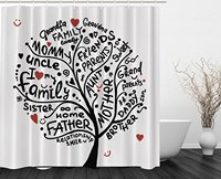 Better Curtains Grandma Gifts Family Tree Family Love Tree Shower Curtain for Bathroom
