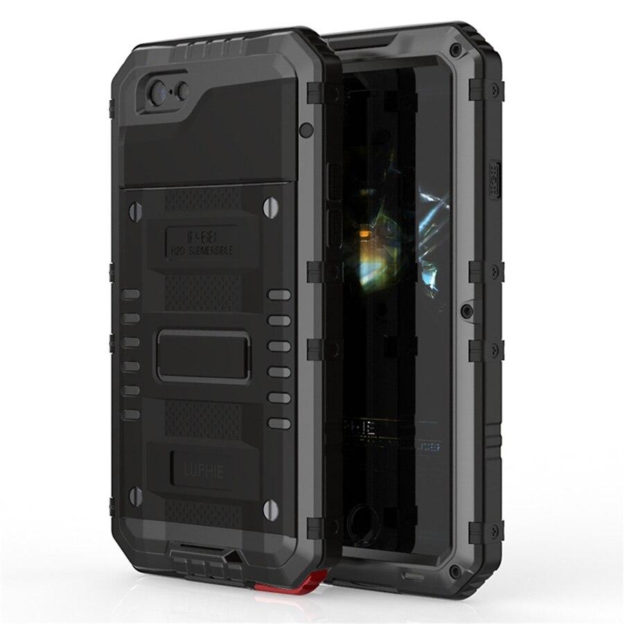 Luphie Warwolf IP68 Waterproof Shockproof Dustproof Snowproof 3 Proofings Case Cover for iPhone 7 7 Plus