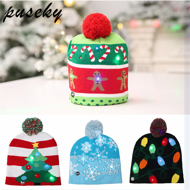 Christmas Tree Hats: Lovely Kids Christmas Hat LED Caps Christmas Tree Hat