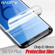 NAGFAK Screen Protector on the For Samsung Galaxy S9 S9Plus S8 S8Plus Note 8 S7 Edge Not Glass 0.18mm 3D Soft S9 Protective film
