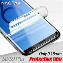 삼성 갤럭시 s9 s9plus s8 s8plus 참고 8 s7 가장자리에 대 한 nagfak 화면 보호기 유리 0.18mm 3d 소프트 s9 보호 필름