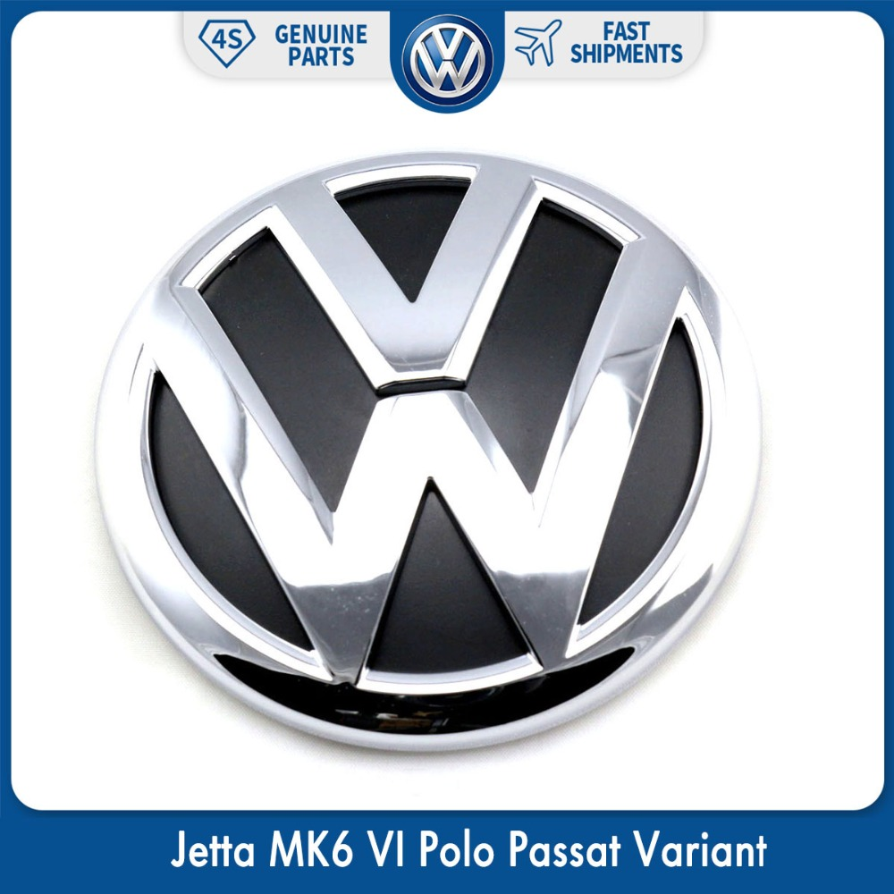 100mm oem rear trunk lid badge emblem chrome logo car sticker for vw volkswagen jetta mk6 vi polo passat variant 5c6 853 630 ulm