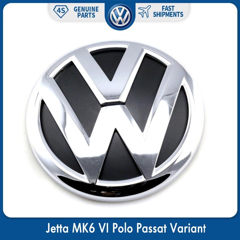 100mm OEM Rear Trunk Lid Badge Emblem Chrome Logo Car Sticker For VW Volkswagen Jetta MK6 VI Polo Passat Variant 5C6 853 630 ULM 100mm oem rear trunk lid badge emblem chrome logo car sticker for vw volkswagen jetta mk6 vi polo passat variant 5c6 853 630 ulm