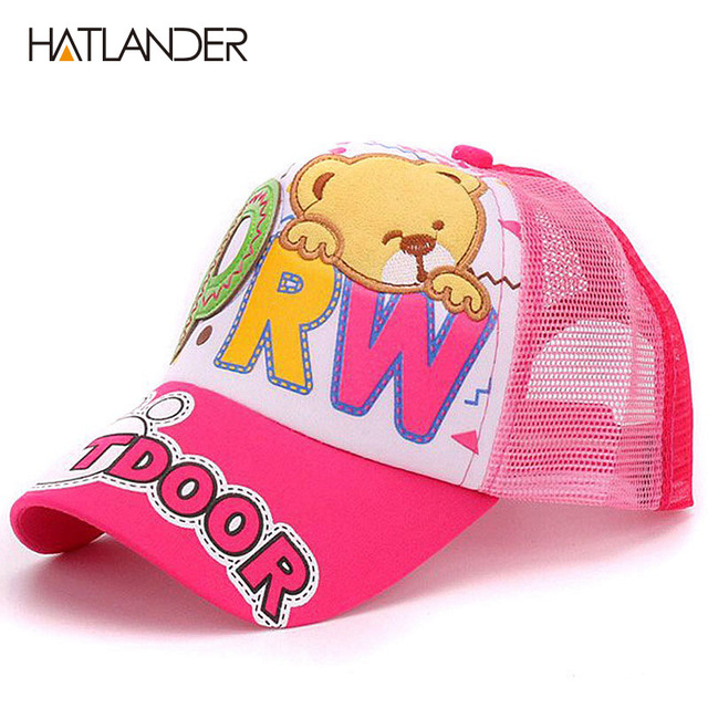 11af135f0a063 Hatlander de verano sombrero de malla para niños niño gorras de béisbol  ajustable gorro de bebé