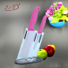 Gift ceramic ceramic knife tool sets 3 sets of 4 inch 6 inch slice fruit knife knife seat suit