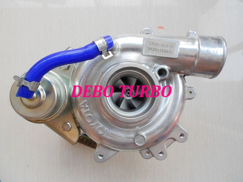 NOUVEAU CT16 17201-30120 turbo turbocompresseur pour TOYOTA Hiace, HI-LUX Diesel, 2KD-FTV 2.5L 102HP (refroidi À L'huile)