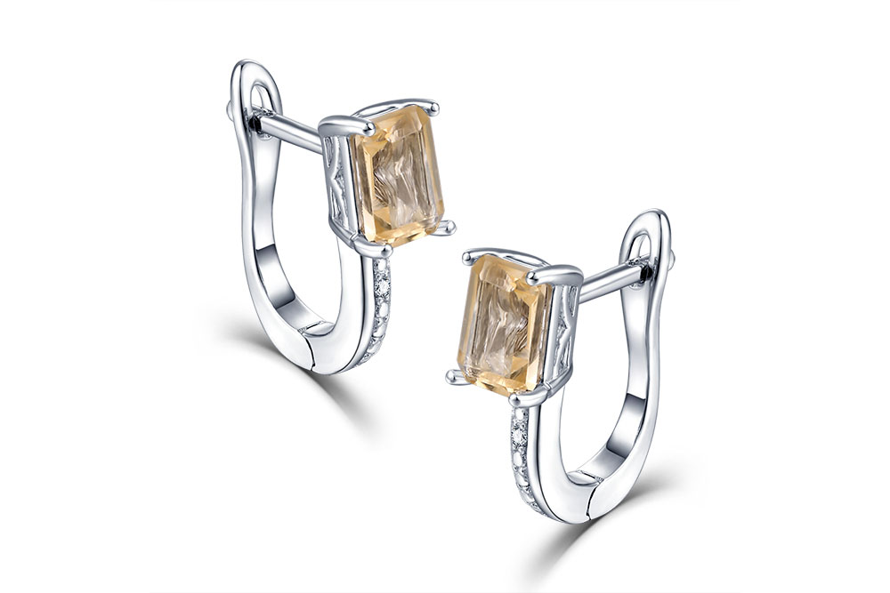 silver citrine diamond earrings CASE06156SC-1 (3)