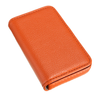 5 pcs of Waterproof Business ID Credit Card Holder Aluminum Pocket Wallet Case Box, Orange