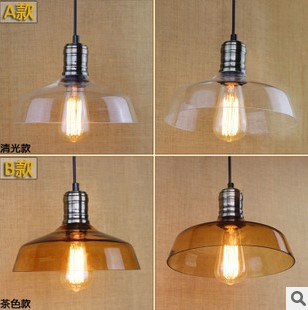 American Loft Style Edison Industrial Lighting Vintage Pendant Lamp In Glass LampShade,Lustres E Pendentes Luz vintage loft industrial edison flower glass ceiling lamp droplight pendant hotel hallway store club cafe beside coffee shop