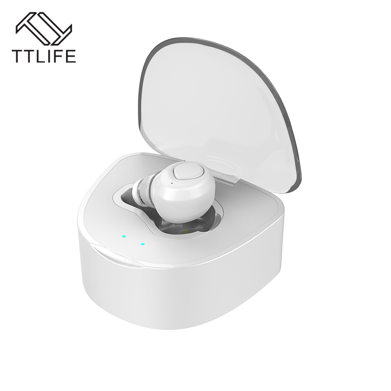 TTLIFE Q7 Mini Wireless Bluetooth earphone headphones V4.1 CVC6.0 Noise Cancelling With Mic 430mAh charge box for xiaomi iPhone ttlife q26 stereo noise cancelling earphone ultra mini car calls bluetooth wireless headset with mic for iphone 7 android psp