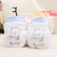 2019 Winter Baby Gloves 1 Pairs Cute Cartoon Baby Infant Boys Girls Anti Scratch Newborn Mittens Fabric Gloves Gift #YL1(China)