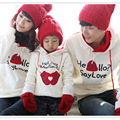 2017 long sleeve matching family sweatershirt mother son outfits matching family clothes love letter printed  pullover hoodies