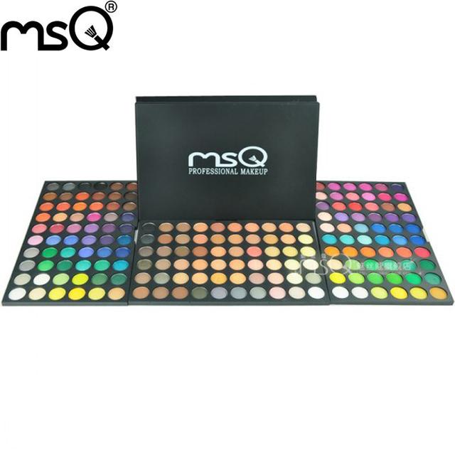 MSQ marca 180 cores make up palette. Mineral powder eye makeup palette cosméticos com frete grátis